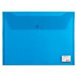 Папка-конверт на кнопке Brauberg, А4, синяя
