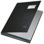 Папка адресная Leitz На подпись 57000095, А4, черная, 20 секций