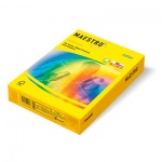 Цветная бумага для принтера Maestro Color неоновая солнечно-желтая, А4, 500 листов, 80г/м2, SY40