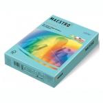 Цветная бумага для принтера Maestro Color пастель голубая, А4, 500 листов, 80г/м2, MB30