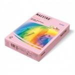 Цветная бумага для принтера Maestro Color пастель розовый фламинго, А4, 500 листов, 80г/м2, OPI74
