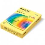 Цветная бумага для принтера Maestro Color пастель желтая, А4, 500 листов, 80г/м2, YE23