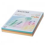 Цветная бумага для принтера Maestro Color цветная пастель, А4, 250 листов, 80г/м2, RB01