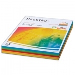 Цветная бумага для принтера Maestro Color 5 цветов, А4, 250 листов, 80г/м2, RB02