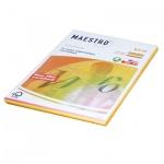 Цветная бумага для принтера Maestro Color неон, А4, 200 листов, 80 г/м2, RB04