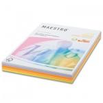 Цветная бумага для принтера Maestro Color 5 цветов, А4, 250 листов, 80г/м2, RB03