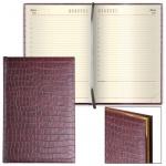 Ежедневник недатированный Brauberg Comodo, А5, 160 листов, под матовую крокодиловую кожу, коричневый
