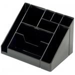 Органайзер настольный Стамм Каскад 9 секций, 115х160х105мм, черный, ОР11