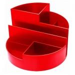 Органайзер настольный Стамм Профи 6 секций, 90х130мм, красный, ОР101