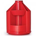 Органайзер настольный Стамм Mini Desk 10 секций, 140х107мм, красный, ОР74