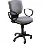 Кресло офисное Бюрократ CH-626AXSL ткань, серая, темная, крестовина хром