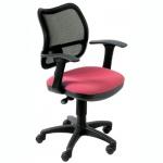 Кресло офисное Бюрократ CH-797AXSN ткань, черная, крестовина пластик, красное