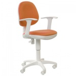 Кресло офисное Бюрократ CH-W356AXSN ткань, оранжевая, крестовина пластик, белая