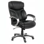 Кресло руководителя Chairman 435 нат. кожа, черная, крестовина пластик