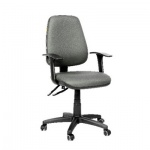 Кресло офисное Chairman 661 ткань, серая, крестовина пластик