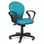 Кресло офисное Chairman 684 ткань, JP, крестовина пластик, NEW, голубое