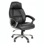 Кресло руководителя Chairman 436 нат. кожа, крестовина пластик, черное