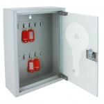 Шкафчик для ключей Office Force на 10 ключей, ключевой замок, 200х300х80мм