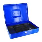 Кэшбокс Office Force TS0001, 9х28х37см, ключевой замок, синий
