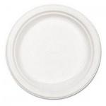 Тарелка одноразовая Мистерия белая, d=20.5cм, 100шт/уп