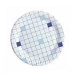 Тарелка одноразовая Huhtamaki d=15см, клетка, 100шт/уп