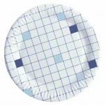 Тарелка одноразовая Huhtamaki d=23см, клетка, 50шт/уп