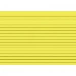Карточки для картотеки Brunnen А5, желтые, линованные, 100шт