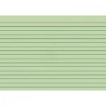 Карточки для картотеки Brunnen А5, зеленые, линованные, 100шт
