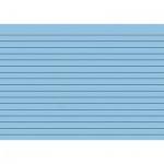 Карточки для картотеки Brunnen А5, синие, линованные, 100шт