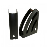 Накопитель вертикальный для бумаг Оскол-Пласт Элегант А4, 87мм, черный, 9043