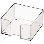 Подставка для бумажного блока Оскол-Пласт прозрачная, 9х9х4.5см, пластик