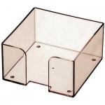 Подставка для бумажного блока Оскол-Пласт тонированная, 9х9х4.5см, пластик