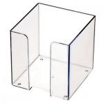 Подставка для бумажного блока Оскол-Пласт прозрачная, 9х9х9см, пластик
