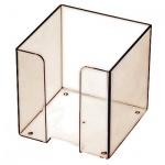 Подставка для бумажного блока Оскол-Пласт тонированная, 9х9х9см, пластик