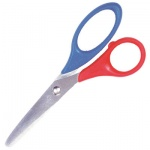 Ножницы для левшей Brunnen 13см, красно-синие