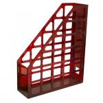 Накопитель вертикальный для бумаг Оскол-Пласт А4, 70мм, красный, 9051