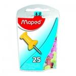 Кнопки для пробковых досок Maped цветные, 25 шт/уп
