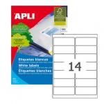 Этикетки белые Apli 02419 99.1x38.1мм, 1400шт