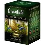 Чай Greenfield, черный, в пирамидках, 20 пакетиков, Блюберри Форест