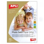 Фотобумага для струйных принтеров Apli Photo Satin А4, 25 листов, 240 г/м2, матовая, 10415