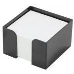 Подставка для бумажного блока Оскол-Пласт черная, 9х9х4.5см, пластик