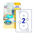 �������� ��� CD/DVD Avery Zweckform C9660-25, �����, d=117��, 2�� �� ����� �4, 25 ������, 50��, ��� �������� ������