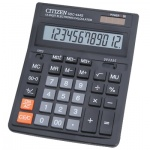 Калькулятор настольный Citizen SDC-444S черный, 12 разрядов