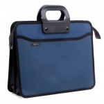 Портфель пластиковый синий, 4 отделения