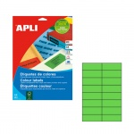 Этикетки цветные Apli, 105х37мм, 320шт, зеленый