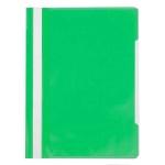 Скоросшиватель пластиковый Бюрократ с карманом на лицевой стороне зеленый, А4, PS-K20GRN