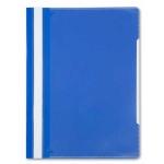 Скоросшиватель пластиковый Бюрократ С КАРМАНом на лицой стороне синий, А4, PS-K20BLU