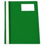 Скоросшиватель пластиковый Бюрократ с карманом для ВИЗИТКИ зеленый, А4, PS-V20GRN