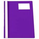 Скоросшиватель пластиковый Бюрократ с карманом для ВИЗИТКИ, А4, фиолетовый