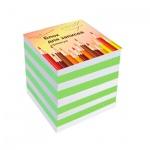 Блок для записей непроклеенный Бцн-9 5 цветов, 90х90мм